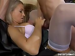 blue russian MILF succeed in..
