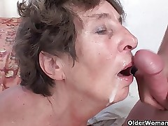 Soft granny loves anal carnal..